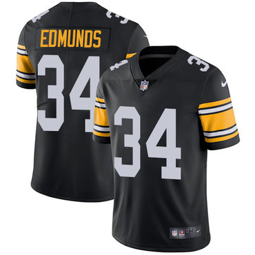 Nike Pittsburgh Steelers #34 Terrell Edmunds Black Team Color Men's Stitched NFL Vapor Untouchable Limited Jersey