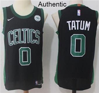 online store abf3d cb8de Nike Boston Celtics #0 Jayson Tatum Black NBA Authentic ...