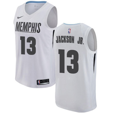 ae23017df79 Nike Memphis Grizzlies #13 Jaren Jackson Jr. White NBA Swingman City Edition  Jersey