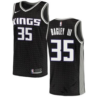 Nike Sacramento Kings #35 Marvin Bagley III Black NBA Swingman Statement Edition Jersey
