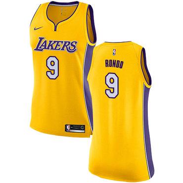 Women's Nike Los Angeles Lakers #9 Rajon Rondo Gold NBA Swingman Icon Edition Jersey