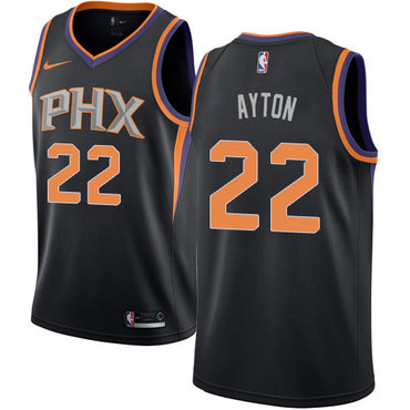Women's Nike Phoenix Suns #22 Deandre Ayton Black NBA Swingman Statement Edition Jersey