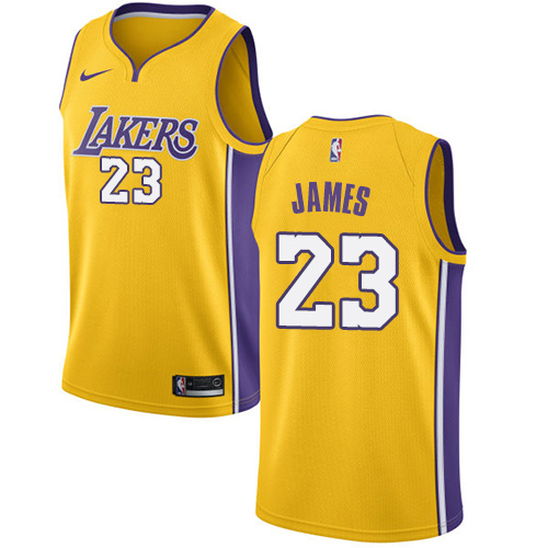 dc22eef9c77 Youth Nike Los Angeles Lakers #23 LeBron James Gold NBA Swingman Icon  Edition Jersey