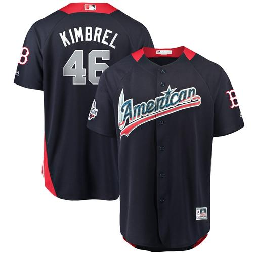 Red Sox #46 Craig Kimbrel Navy Blue 2018 All-Star American League Stitched Baseball Jersey