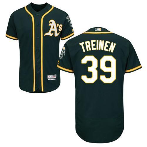 Oakland Athletics #39 Blake Treinen Green Flexbase Authentic Collection Stitched Baseball Jersey
