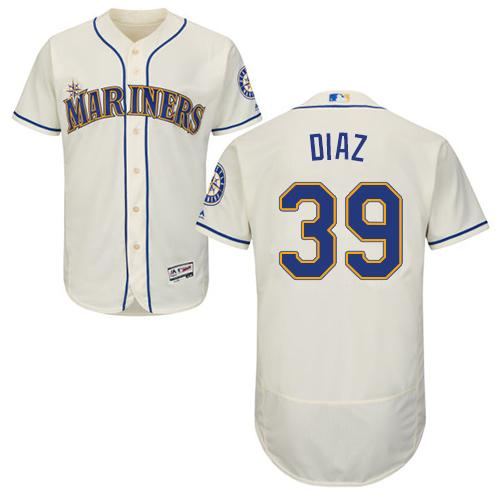 Seattle Mariners #39 Edwin Diaz Cream Flexbase Authentic Collection Stitched Baseball Jersey