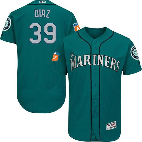 Seattle Mariners #39 Edwin Diaz Green Flexbase Authentic Collection Stitched Baseball Jersey