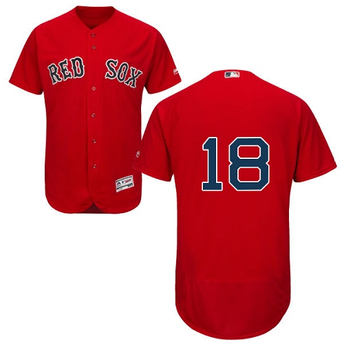 Boston Red Sox #18 Mitch Moreland Red Flexbase Authentic Collection Stitched Baseball Jersey