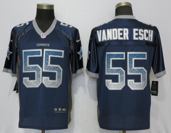 Nice Nike Dallas Cowboys #55 Leighton Vander Esch Navy 2018 NFL Draft  for cheap