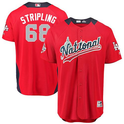 Dodgers #68 Ross Stripling Red 2018 All-Star National League Stitched Baseball Jersey