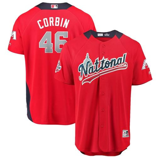 Diamondbacks #46 Patrick Corbin Red 2018 All-Star National League Stitched Baseball Jersey