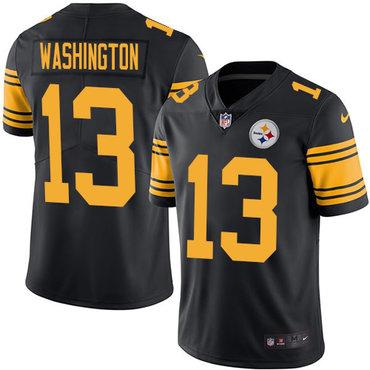 Nike Steelers #13 James Washington Black Youth Stitched NFL Limited Rush Jersey