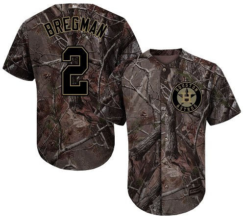 Houston Astros #2 Alex Bregman Camo Realtree Collection Cool Base Stitched MLB Jersey
