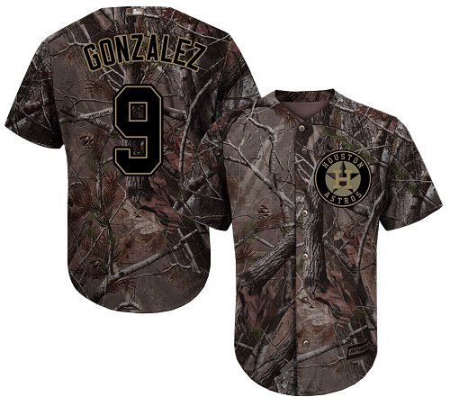 Houston Astros #9 Marwin Gonzalez Camo Realtree Collection Cool Base Stitched MLB Jersey