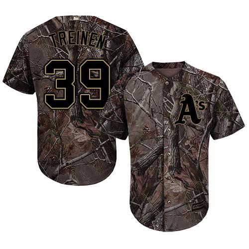 Oakland Athletics #39 Blake Treinen Camo Realtree Collection Cool Base Stitched MLB Jersey