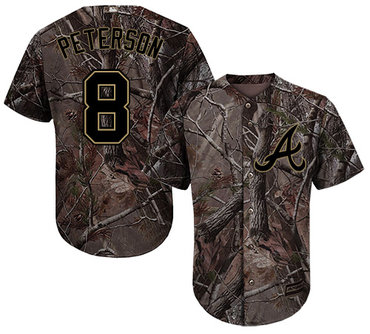 Atlanta Braves #8 Jace Peterson Camo Realtree Collection Cool Base Stitched MLB Jersey