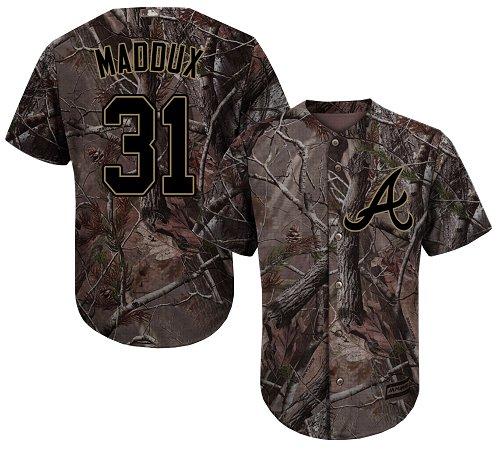 Atlanta Braves #31 Greg Maddux Camo Realtree Collection Cool Base Stitched MLB Jersey
