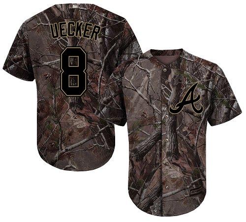Atlanta Braves #8 Bob Uecker Camo Realtree Collection Cool Base Stitched MLB Jersey