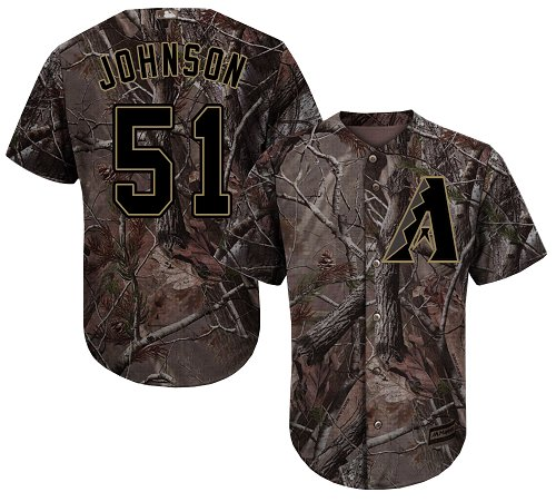 Arizona Diamondbacks #51 Randy Johnson Camo Realtree Collection Cool Base Stitched MLB Jersey