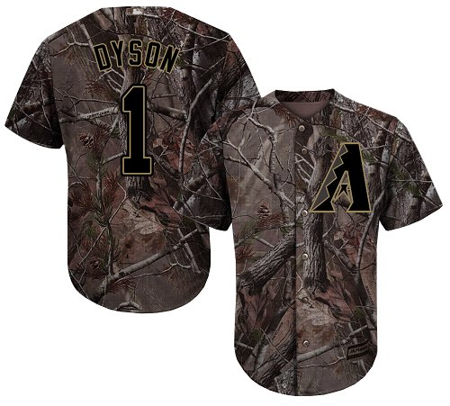 Arizona Diamondbacks #1 Jarrod Dyson Camo Realtree Collection Cool Base Stitched MLB Jersey