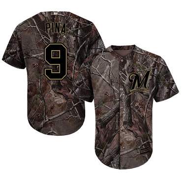 Milwaukee Brewers #9 Manny Pina Camo Realtree Collection Cool Base Stitched MLB Jersey