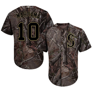 Seattle Mariners #10 Mike Marjama Camo Realtree Collection Cool Base Stitched MLB Jersey