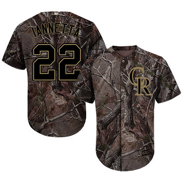 Colorado Rockies #22 Chris Iannetta Camo Realtree Collection Cool Base Stitched MLB Jersey
