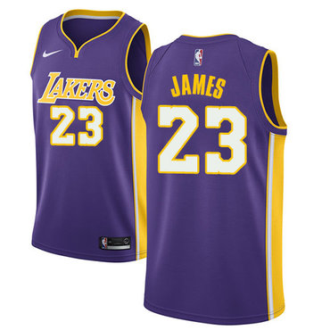 b09928bf2c9d Nike Los Angeles Lakers  23 LeBron James Purple NBA Swingman Statement Edition  Jersey
