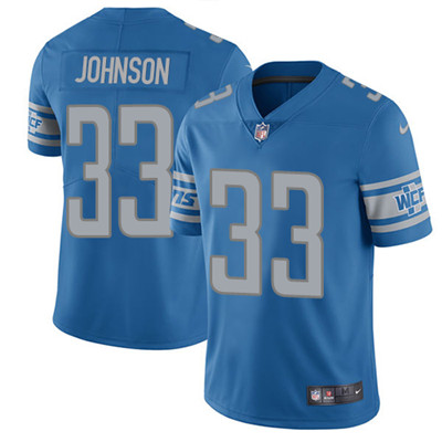 Nike Detroit Lions #33 Kerryon Johnson Blue Team Color Men's Stitched NFL Vapor Untouchable Limited Jersey
