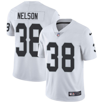 Nike Oakland Raiders #38 Nick Nelson White Men's Stitched NFL Vapor Untouchable Limited Jersey