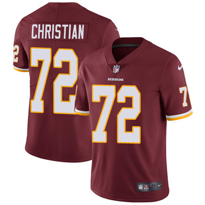 Nike Washington Redskins #72 Geron Christian Burgundy Red Team Color Men's Stitched NFL Vapor Untouchable Limited Jersey