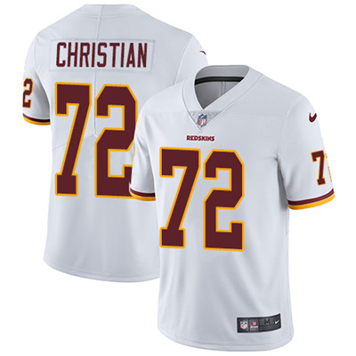 Nike Washington Redskins #72 Geron Christian White Men's Stitched NFL Vapor Untouchable Limited Jersey
