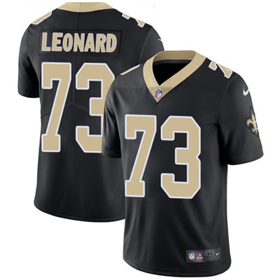 Nike New Orleans Saints #73 Rick Leonard Black Team Color Men's Stitched NFL Vapor Untouchable Limited Jersey
