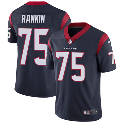 Nike Houston Texans #75 Martinas Rankin Navy Blue Team Color Men's Stitched NFL Vapor Untouchable Limited Jersey