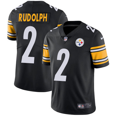 Nike Pittsburgh Steelers #2 Mason Rudolph Black Team Color Men's Stitched NFL Vapor Untouchable Limited Jersey