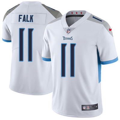Nike Tennessee Titans #11 Luke Falk White Men's Stitched NFL Vapor Untouchable Limited Jersey