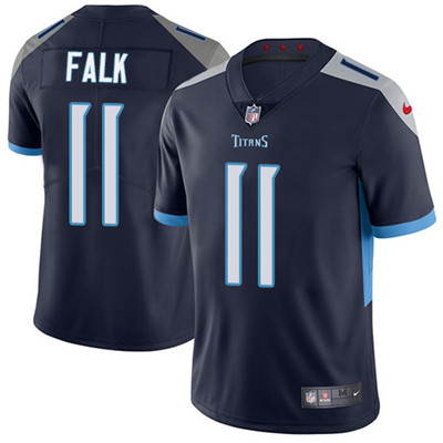Nike Tennessee Titans #11 Luke Falk Navy Blue Alternate Men's Stitched NFL Vapor Untouchable Limited Jersey