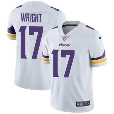 Nike Minnesota Vikings #17 Kendall Wright White Men's Stitched NFL Vapor Untouchable Limited Jersey