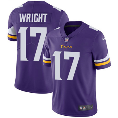 Nike Minnesota Vikings #17 Kendall Wright Purple Team Color Men's Stitched NFL Vapor Untouchable Limited Jersey