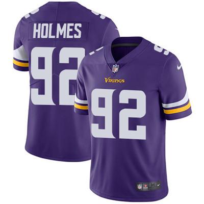 Nike Minnesota Vikings #92 Jalyn Holmes Purple Team Color Men's Stitched NFL Vapor Untouchable Limited Jersey