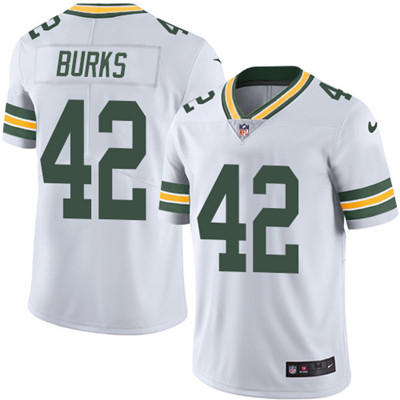 Nike Green Bay Packers #42 Oren Burks White Men's Stitched NFL Vapor Untouchable Limited Jersey