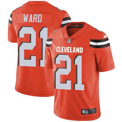 Nike Cleveland Browns  21 Denzel Ward Orange Alternate Men s Stitched NFL  Vapor Untouchable Limited Jersey 0051ca5e4