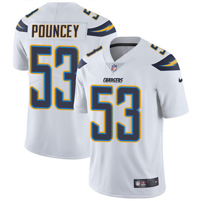 Nike Los Angeles Chargers #53 Mike Pouncey White Men\'s Stitched NFL Vapor Untouchable Limited Jersey