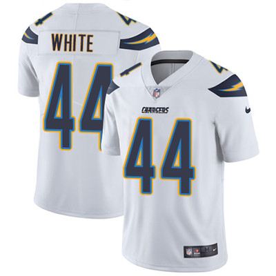 Nike Los Angeles Chargers #44 Kyzir White White Men\'s Stitched NFL Vapor Untouchable Limited Jersey