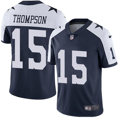 e7bd47b8 Nike Dallas Cowboys #15 Deonte Thompson Navy Blue Thanksgiving Men's  Stitched NFL Vapor Untouchable Limited