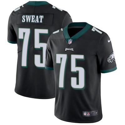 Nike Philadelphia Eagles #75 Josh Sweat Black Alternate Men's Stitched NFL Vapor Untouchable Limited Jersey