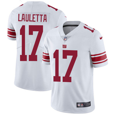 Nike New York Giants #17 Kyle Lauletta White Men's Stitched NFL Vapor Untouchable Limited Jersey