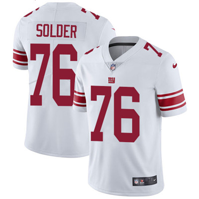 Nike New York Giants #76 Nate Solder White Men's Stitched NFL Vapor Untouchable Limited Jersey