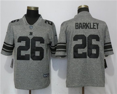 Nike New York Giants 26 Saquon Barkley Gray Vapor Untouchable Limited Jersey