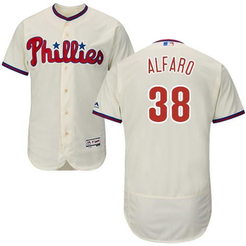Philadelphia Phillies #38 Jorge Alfaro Cream Flexbase Authentic Collection Stitched Baseball Jersey